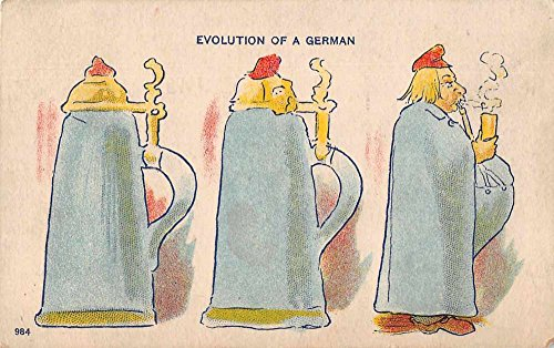 - Evolution of a German Beer Stein Greetings Comic Antique Postcard J77820