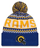 Los Angeles Rams New Era NFL ''Historic Wintry Pom'' Cuffed Knit Hat with Pom