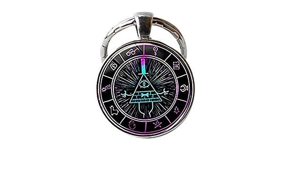 Gravity Falls Bill Cipher Llavero con forma de rueda de ...