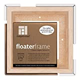 Ampersand Floaterframe for Wood Panels, 1.5 Inch Depth, Bold, 6x6 Inch, Maple (FBOLD150606M)