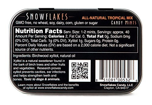 Review Snowflakes Xylitol Candy- Made