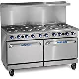 Imperial Commercial Restaurant Range 60 With 10 Elements Two 26 Standard Ovens Electric Model Ir-10-E