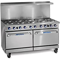 Imperial Commercial Restaurant Range 60' With 10 Elements Two 26' Standard Ovens Electric Model Ir-10-E