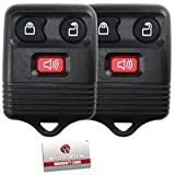 2 Replacement Keyless Entry Remote Control Key Fob