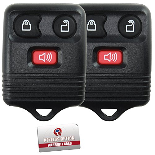 2 Replacement Keyless Entry Remote Control Key Fob Clicker Transmitter 3 Button - Black