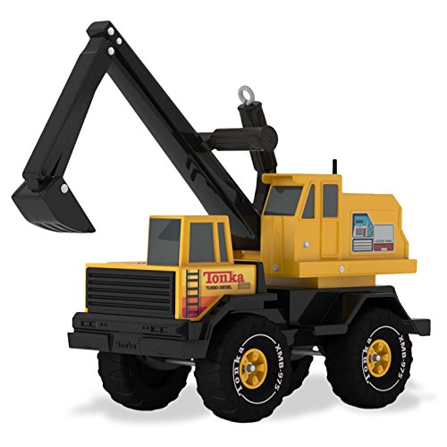 Hallmark Mighty 2016 Tonka Backhoe Ornament Truck