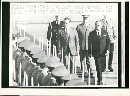 1970 Wire Photo Politics Richard Nixon President Belgarde Tito Airport 8X10