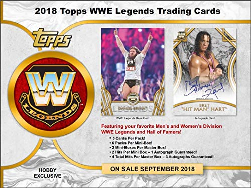 Hobby Legends Box - 2018 Topps Legends of the WWE Wrestling Hobby 8 Box Case (Factory Sealed)