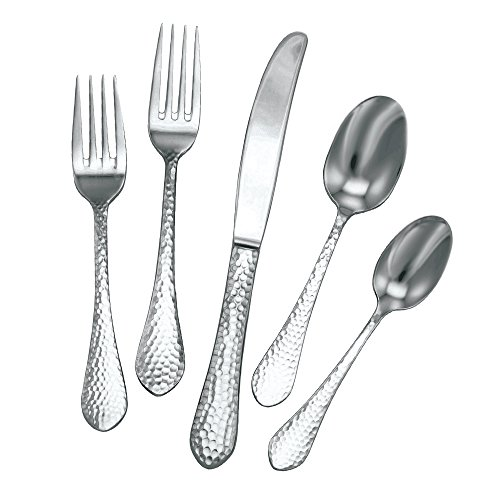 Ironstone Dessert - Utica Cutlery 816340 Ironstone Flatware, 40 Piece Set (Service for Eight), 18/10 Stainless