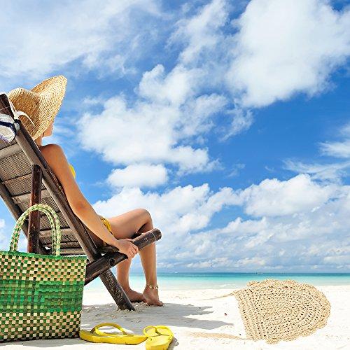 Da Estate Esterno Tessuto Spiaggia Di Borsa Cheerfulus Bianco Ritaglio Del Donne Kaki Legno Maglia Cotone Delle 0tdPqxxw