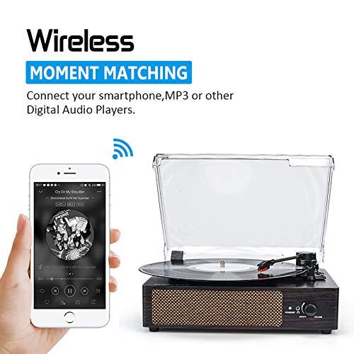 Wockoder KD-2008 Gira Discos Vintage Bluetooth