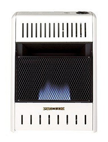 ProCom MNSD100HBA Dual Fuel Blue Flame Vent Less Wall Heater (Gas Wall Heater Ventless)