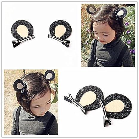 Doble capa sólida rabbit-ear pelo Clips Kawaii Kid s ...