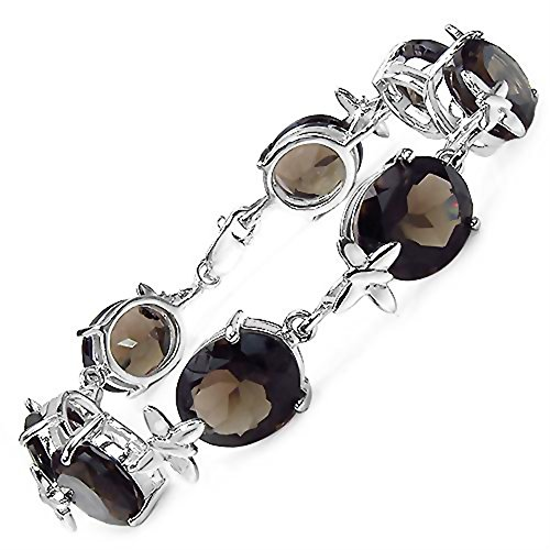 36.90 Carats Smoky Topaz pierre dans 19,79 Grams Sterling Bracelet d'argent pour les femmes - cadeau spécial pour l'anniversaire, anniversaire