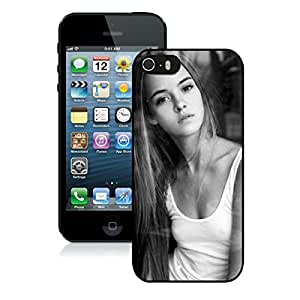 iPhone 5S Elegant Beautiful Sexy Girl In Dark Black Screen Phone Case Lovely and Popular Design