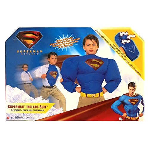 DCS Year 2006 Movie Series Superman Return Electronic Superman INFLATO-Suit Costume with Fan and Cape -