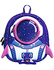 NANAHouse Toddlers Baby Anti-Lost Lovely 3D Cartoon Rocket Lightweight Backpack