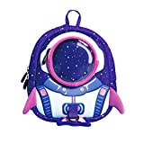 NANAHouse Kindergarten Toddlers Anti-Lost Lovely 3D Cartoon Rocket Lightweight Backpack for Children Pre School Baby (Small, Purple) Review