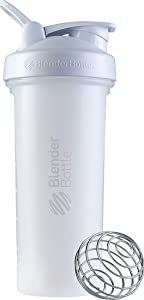 BlenderBottle Classic V2 Shaker Bottle, 28-Ounce, White
