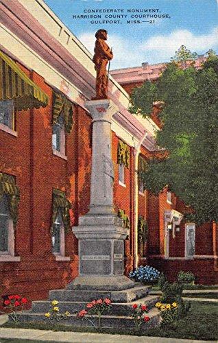 Gulfport Mississippi Harrison Court House Antique Postcard K88761 (Postcard Mississippi)