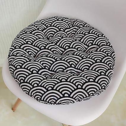 Cojín redondo 38x38 / 43x43 / 48x48cm silla de oficina sofá ...