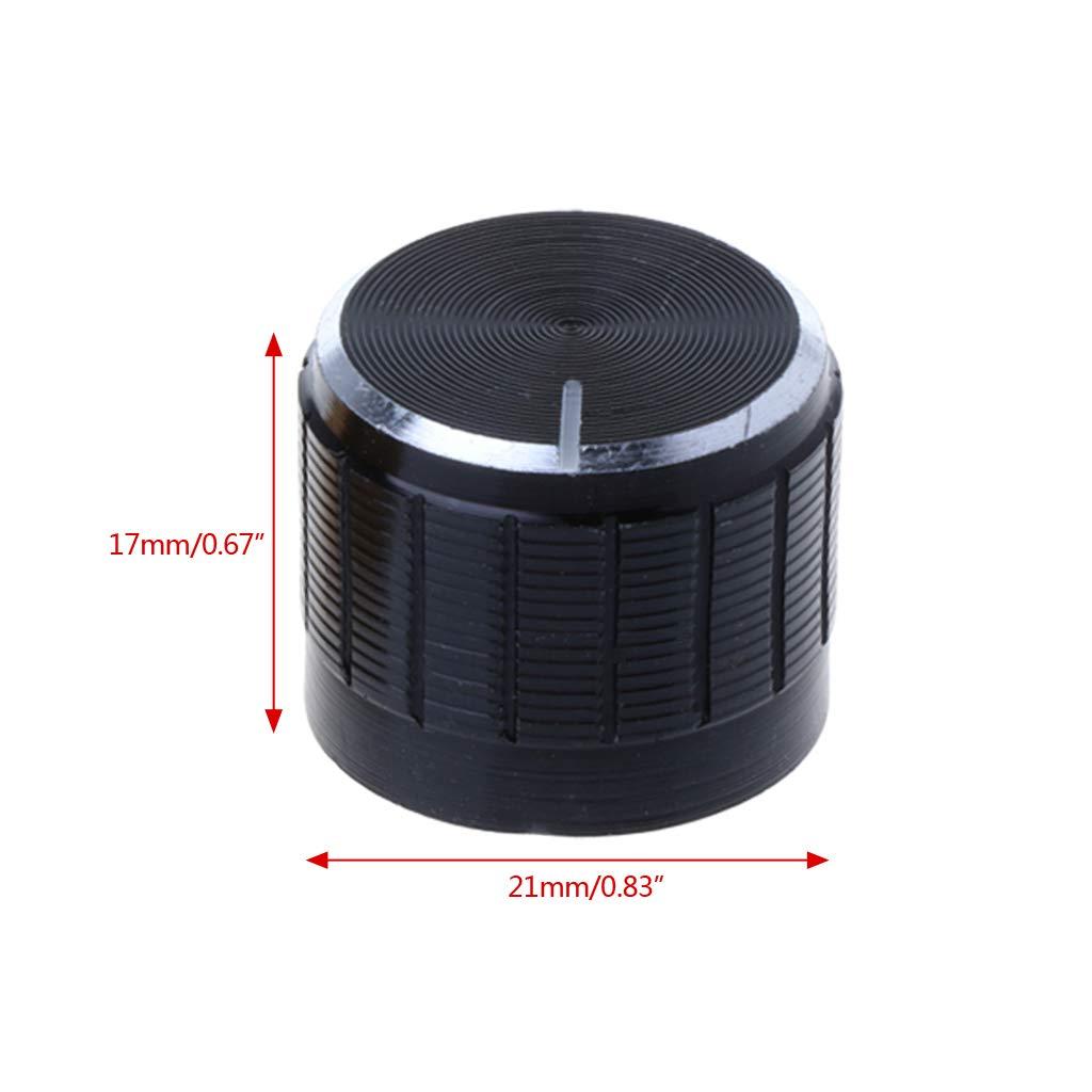 LLAni Composant /électronique De Bouton De Potentiom/ètre De Contr/ôle Rotatoire En Aluminium De 5Pcs 21X17mm