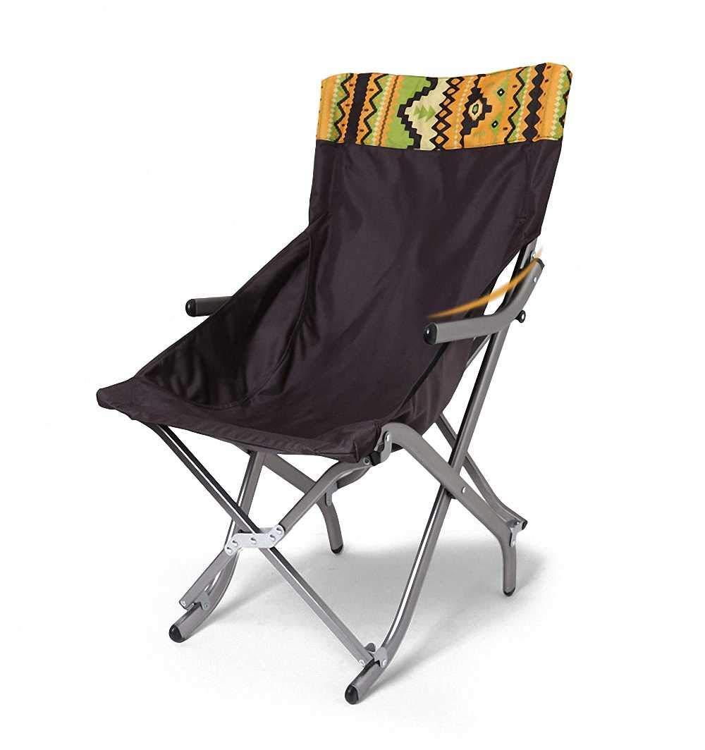 Sanniya Im Freien faltender kampierender Stuhl, Segeltuch Leichte Recliners Aufenthaltsraumstuhl Aluminium beweglicher Fischen-Strand-Mondstuhl