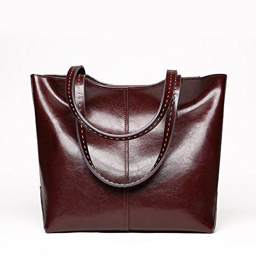 GUANGMING77 _Bag Tasche Handtasche Schulter Messenger Coffee color