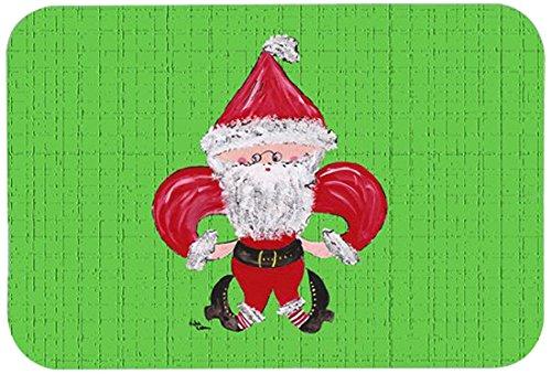 Carolines Treasures 8500JCMTChristmas Fleur De Lis Santa Claus Kitchen or Bath Mat Multicolor 24 by 36