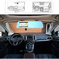 KKmoon 5 Android Smart System GPS Navigation Car Rearview Mirror DVR Dual Lens Front Rear 1080P 720P Camera Recorder with G-sensor Motion Detection Night Vision