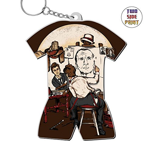 Funny Keychain Doctor Rockwell Time Keyring World Cup Polo Shirt Logo Key Ring Key Fob Alloy Nice Gift
