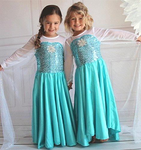 [Disney Frozen Inspired Elsa Costume Dress 3T/4T (100cm)] (Elsa Costume Girl)