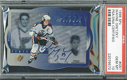 Wayne Gretzky 1996 SPx Tribute Auto Gem Mint 10 Pop 1/1 - PSA/DNA Certified - Slabbed Hockey Cards