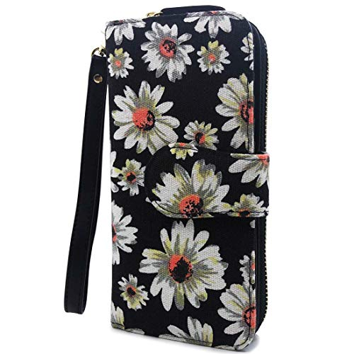 Wallet-NEWANIMA Women Multi-card Two Fold Long Zipper Clutch Purse (Style5-B)