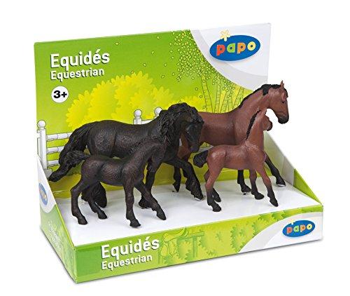 - Papo Box Set Frisian and Thoroughbred Horse Figures