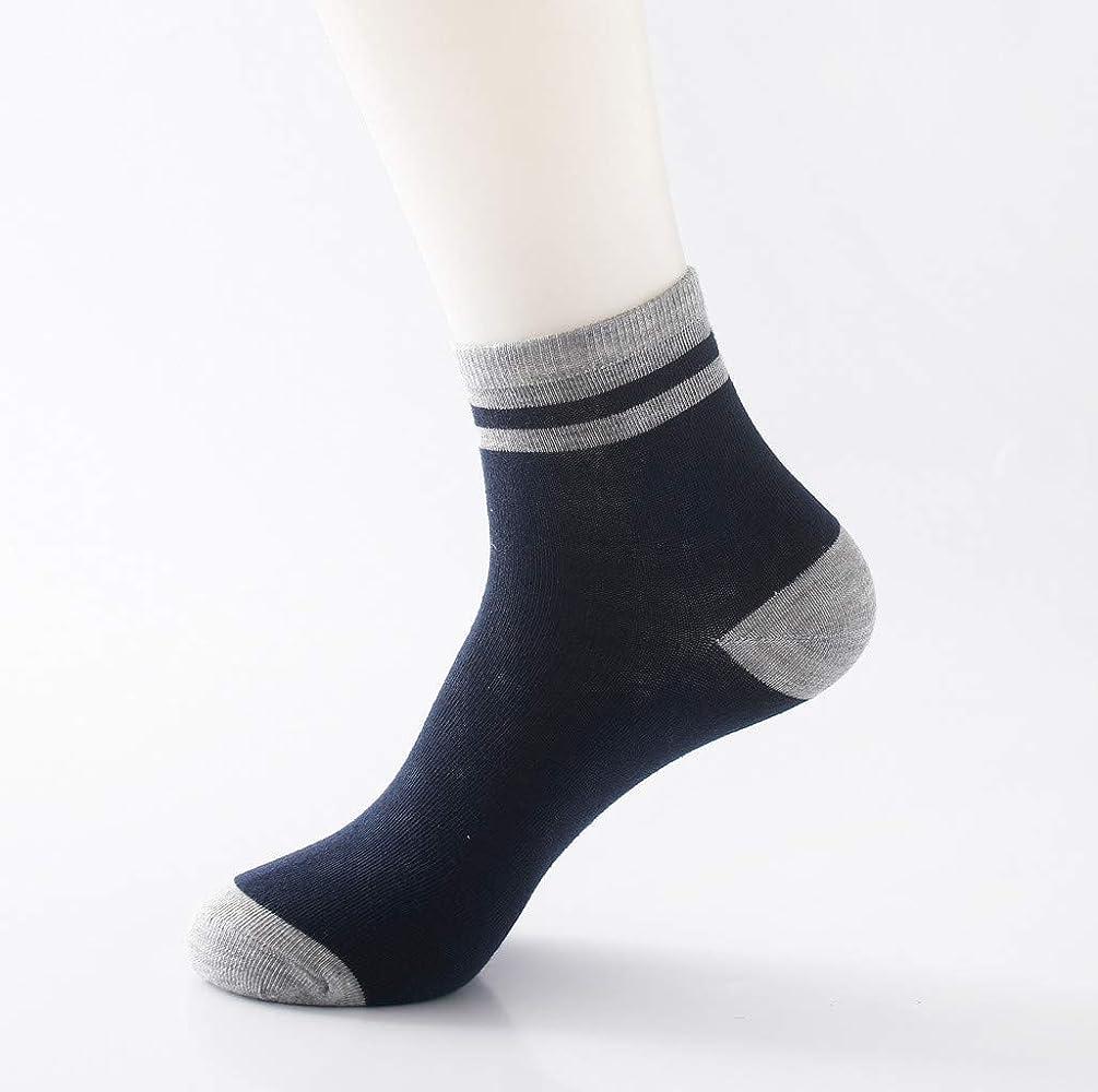 Feytuo 1 par para hombre no elástico 100% puro algodón calcetines ...