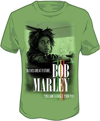 Bob Marley Forget Your Past Grass Green T-Shirt