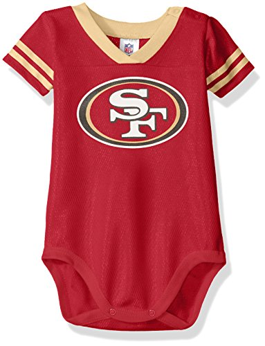 San Francisco Boys 49ers Apparel - NFL San Francisco 49Ers Unisex-Baby Dazzle Bodysuit, Red, 18 Months