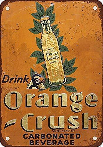 Linvender 1927 Drink Orange Crush Vintage Art Beautiful Traditional Tin Label 12 8 Advertising Wall Decoration Gift