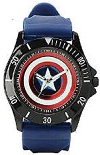 Captain America Blue Rubber Shield Watch (Cta1101)