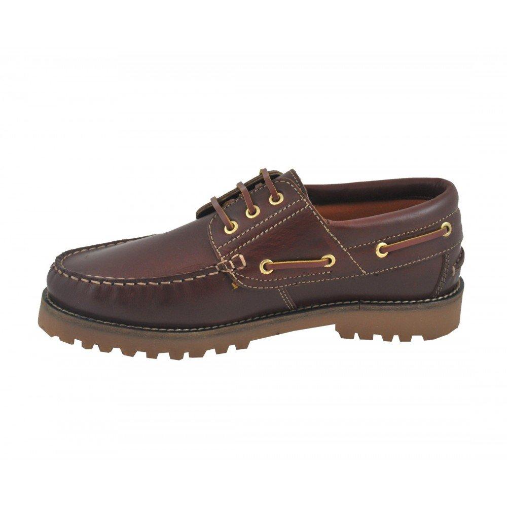 Zapato Nautico Cuero 100% Piel Clásico: Amazon.es: Zapatos y complementos