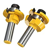 Hitommy Drillpro RB11 Shaker Bevel Rail And Stile Glue Joint Router Bit For Cabinet Door 1/2 Inch