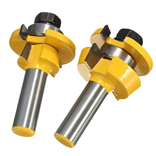 Hitommy Drillpro RB11 Shaker Bevel Rail And Stile Glue Joint Router Bit For Cabinet Door 1/2 Inch by Hitommy