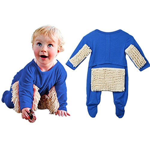 Funny Commercial Costume Ideas (TRENDINAO Newborn Toddler Baby Boys Girls Mop Swob Clothes Romper Jumpsuit Outfit)