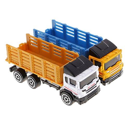 Perfk 2個 高品質 プラスチック モデルカー モデルトラック 子供 おもちゃ 玩具 ギフト 全2タイプ - ダンプトラックの商品画像