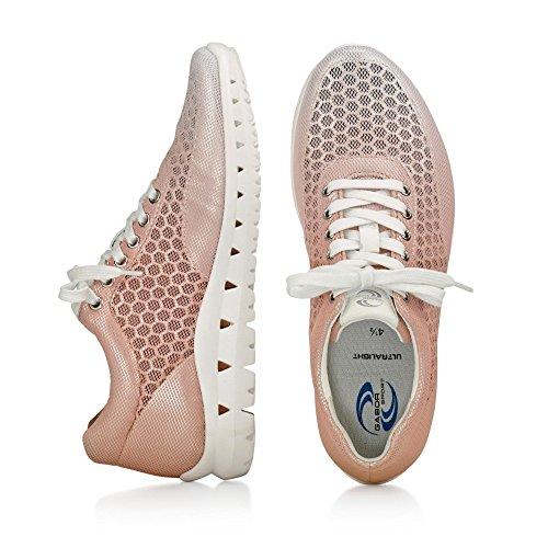 Gabor Scarpe Da Donna 64.331 Sneakers Da Donna, Stringate, Stringate, Ulta-light, Con Superficie Di Contatto Allargata Rame Combi / Bianco