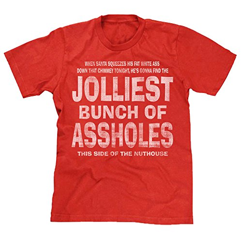 Christmas Vaction - Jolliest Bunch of A-Holes Christmas Holiday Vaction Mens Red/ Unisex T-shirt