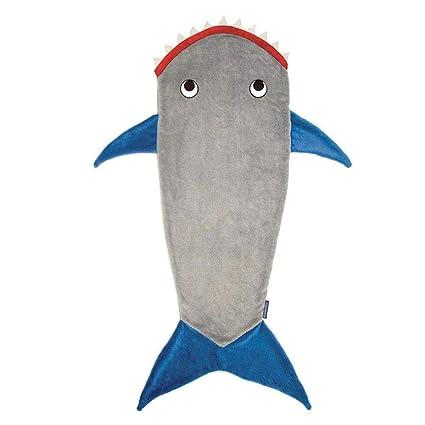 SOWLFE Manta de Cola de Sirena de tiburón Manta de salón Manta Polar Saco de Dormir