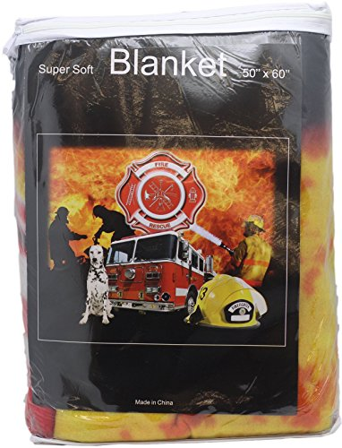 Fire Department Throw Blanket Super Soft