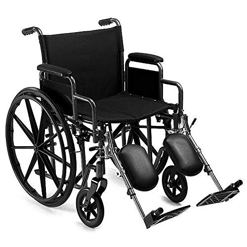 Heavy Duty Bariatric Folding Wheelchair Self Propelled Leg-Rests Strong Extra Wide 24' Seat